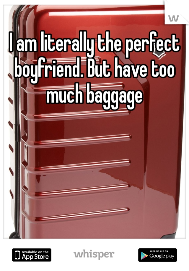 I am literally the perfect boyfriend. But have too much baggage