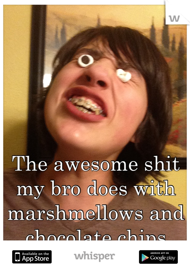 The awesome shit my bro does with marshmellows and chocolate chips