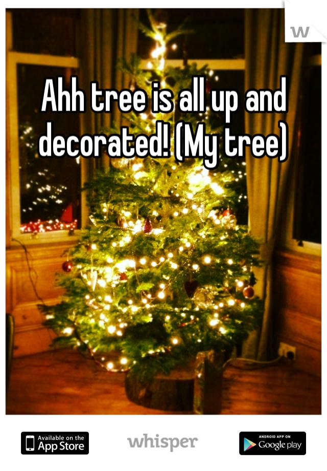 Ahh tree is all up and decorated! (My tree)
