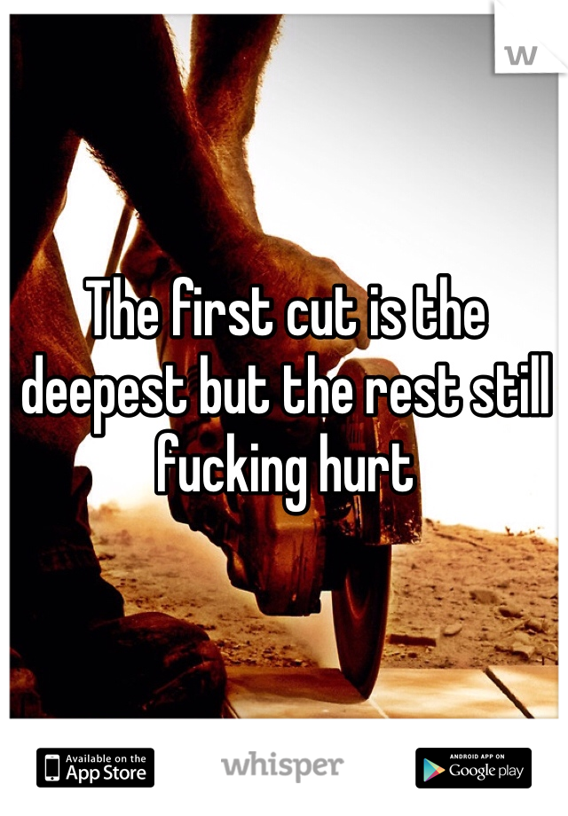 The first cut is the deepest but the rest still fucking hurt