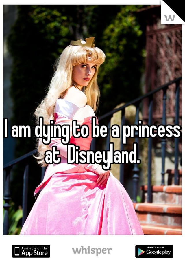 I am dying to be a princess at  Disneyland.