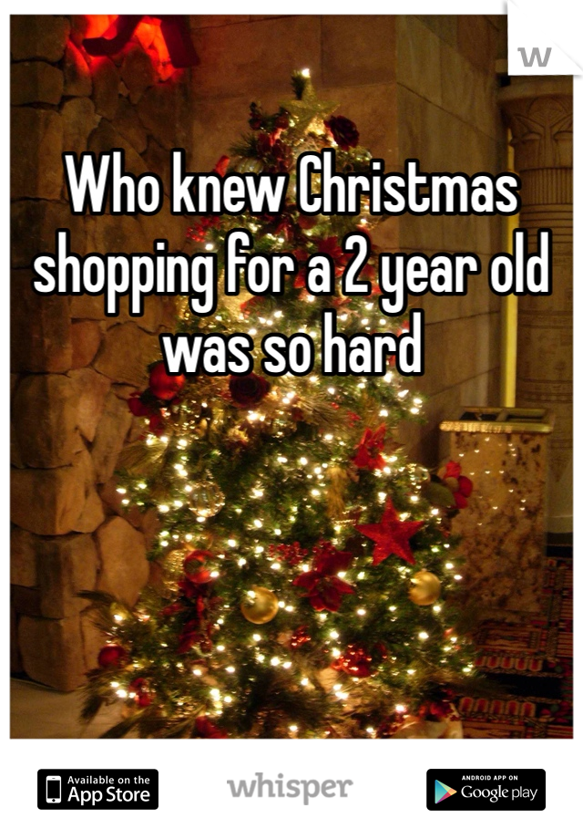 Who knew Christmas shopping for a 2 year old was so hard