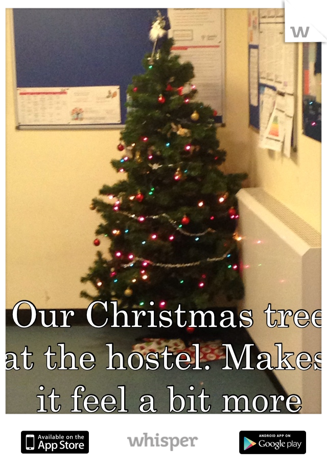 Our Christmas tree at the hostel. Makes it feel a bit more homely!