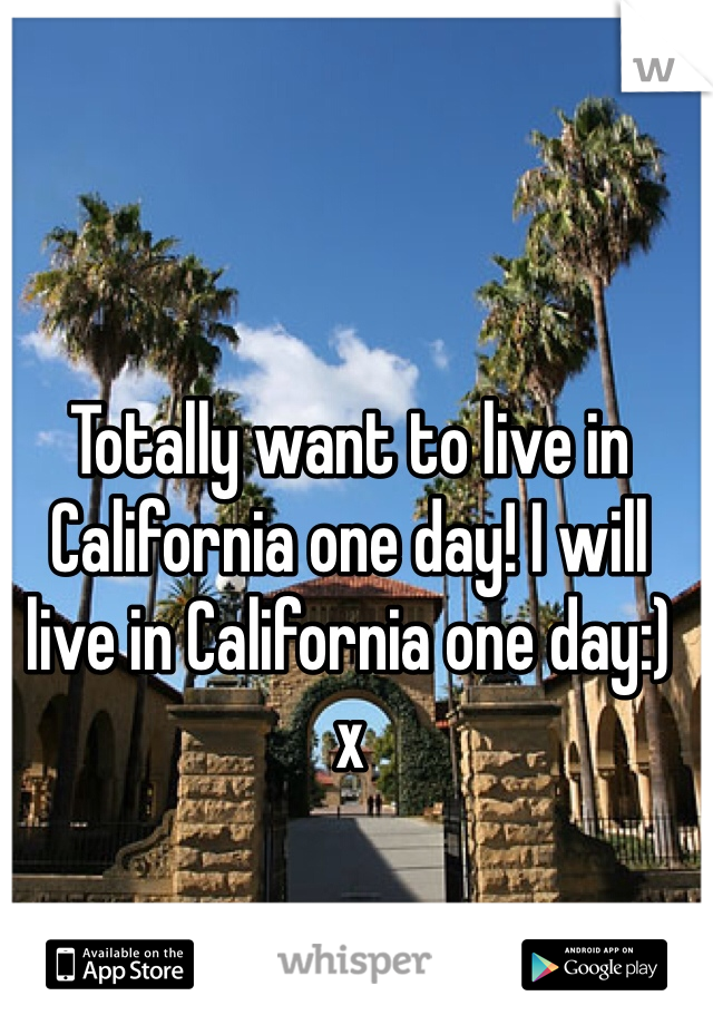 Totally want to live in California one day! I will live in California one day:) x
