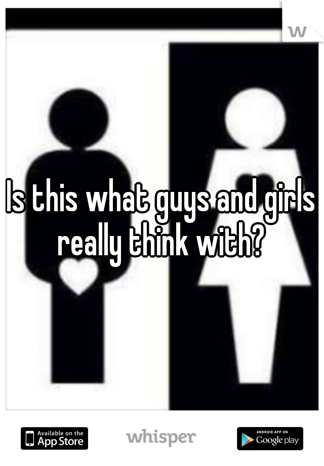 Is this what guys and girls really think with?