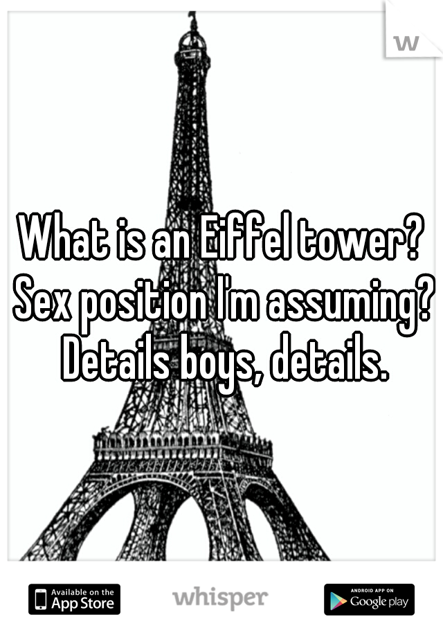 Excited too eiffel position sex tower brilliant
