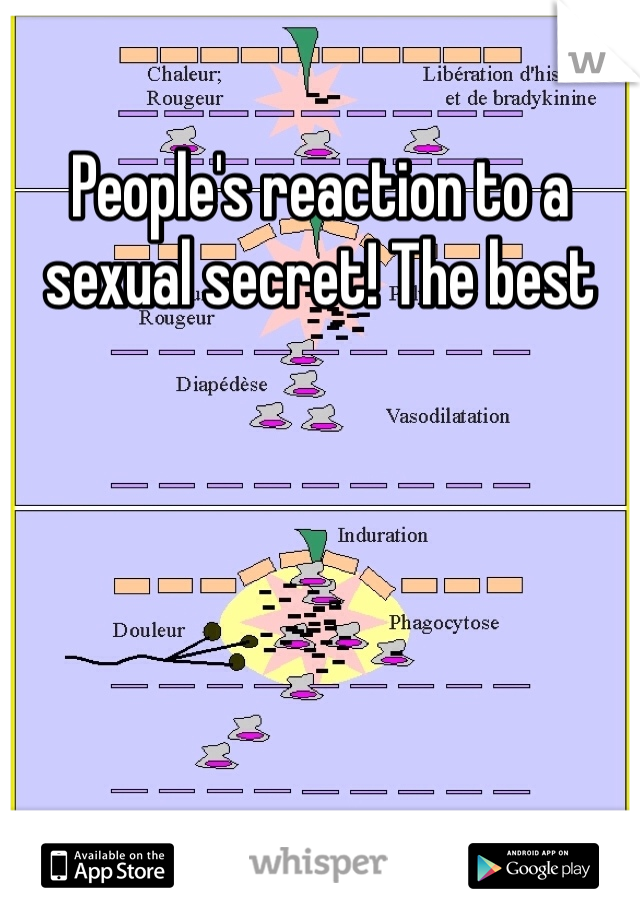 People's reaction to a sexual secret! The best