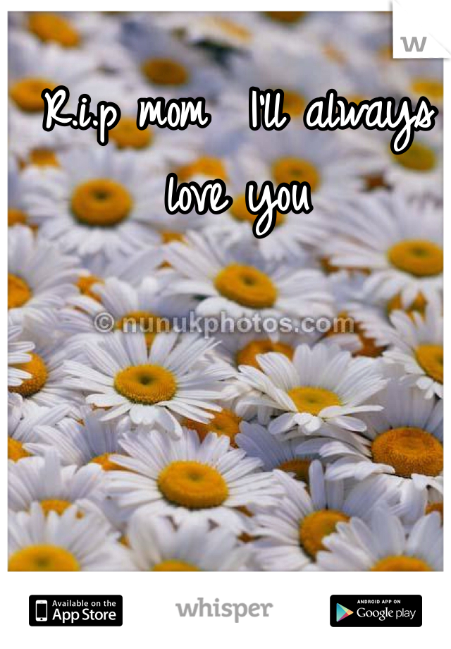 R.i.p mom  I'll always love you