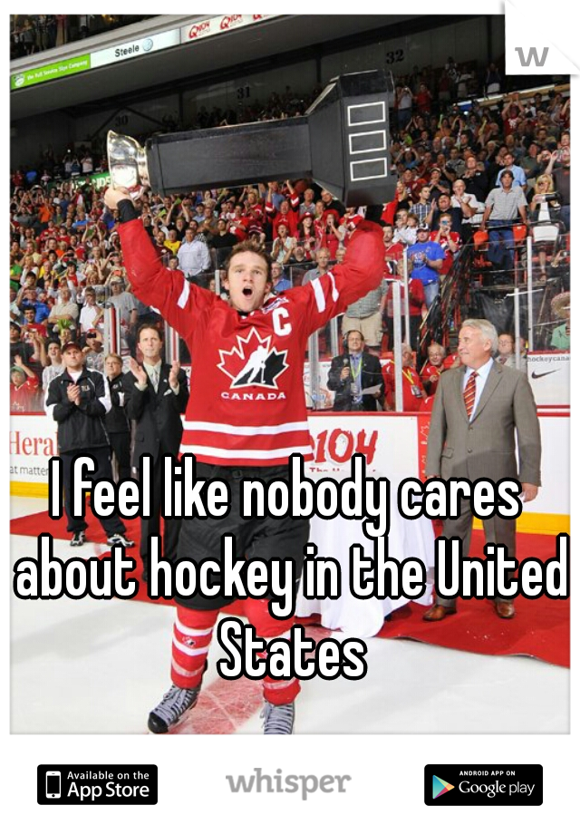 I feel like nobody cares about hockey in the United States