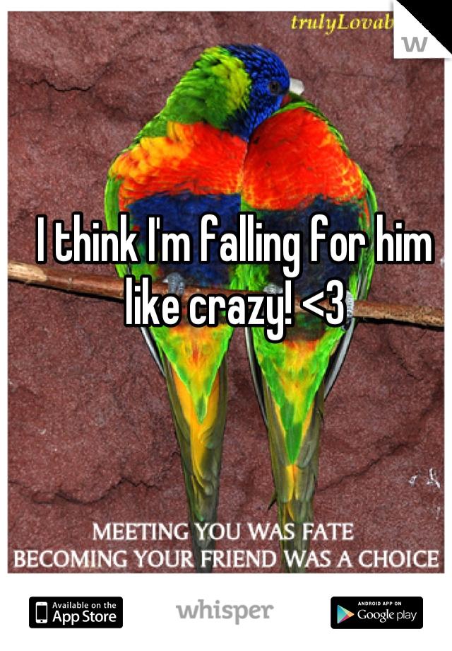 I think I'm falling for him like crazy! <3
