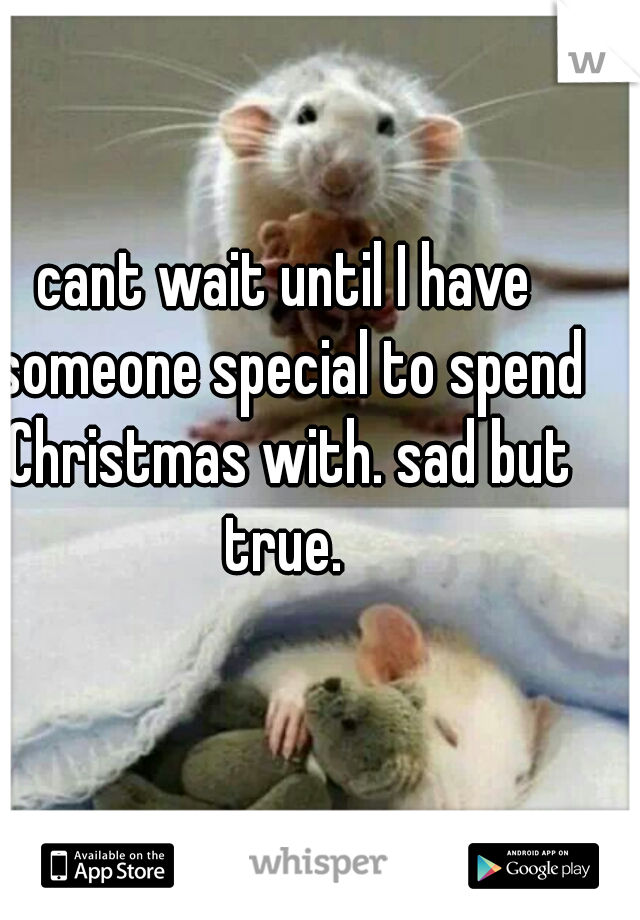 cant wait until I have someone special to spend Christmas with. sad but true.
