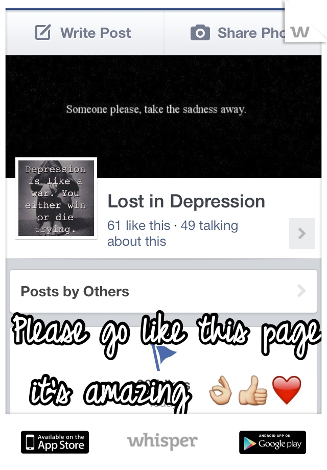 Please go like this page it's amazing 👌👍❤️