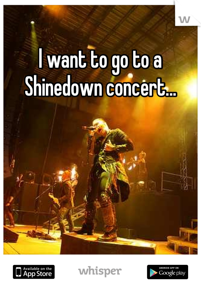 I want to go to a Shinedown concert...