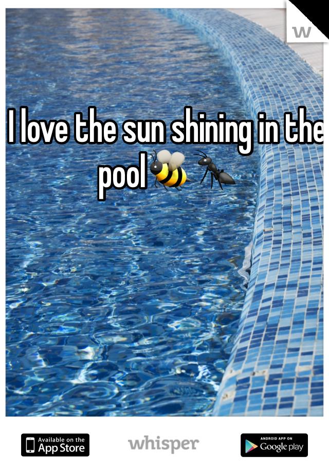 I love the sun shining in the pool🐝🐜