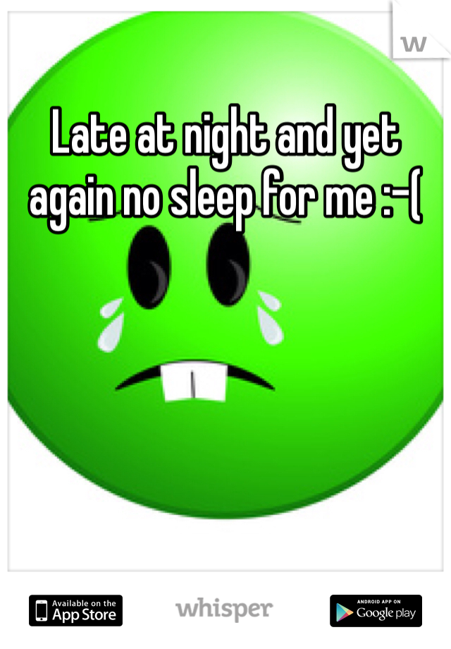 Late at night and yet again no sleep for me :-(