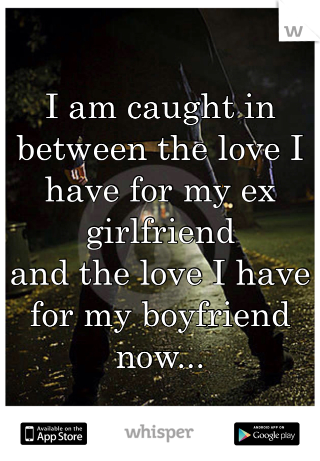 I am caught in between the love I have for my ex girlfriend and the love I have for my boyfriend now...