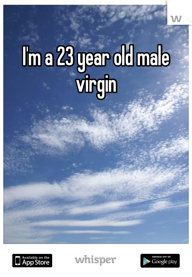 I'm a 23 year old male virgin