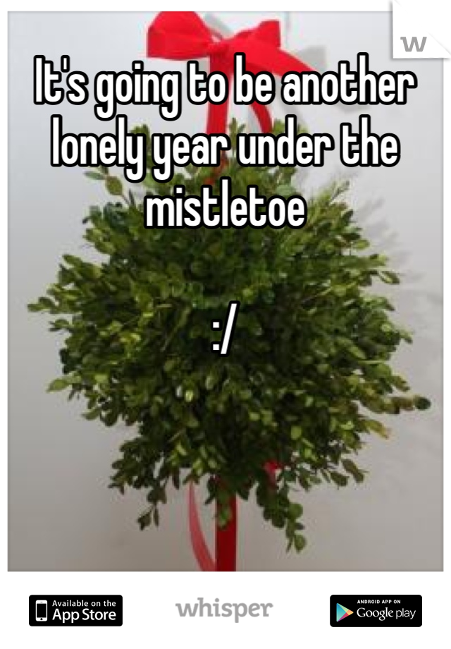 It's going to be another lonely year under the mistletoe   :/