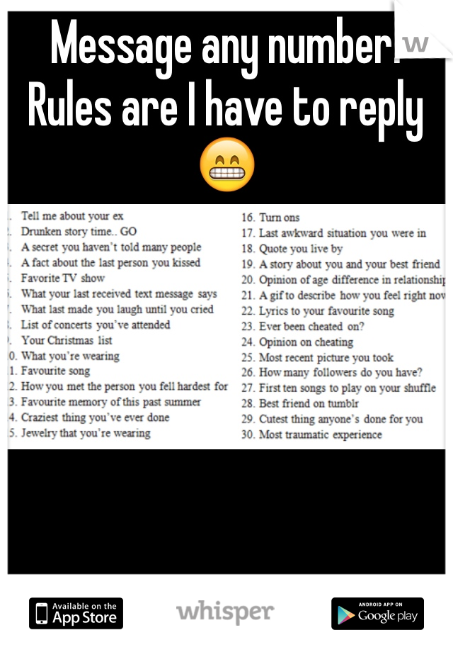 Message any number. Rules are I have to reply 😁