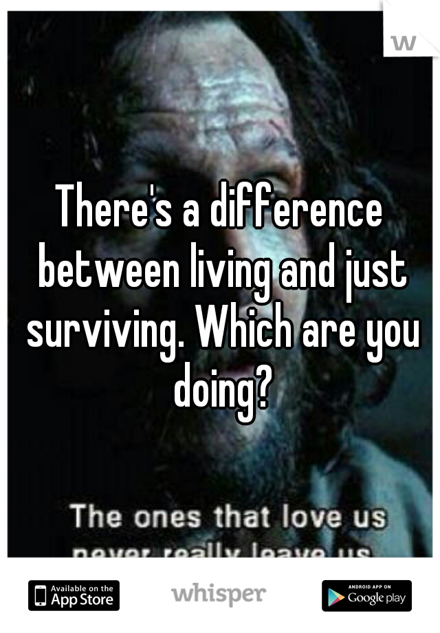 There's a difference between living and just surviving. Which are you doing?