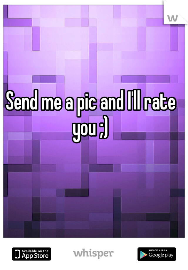 Send me a pic and I'll rate you ;)