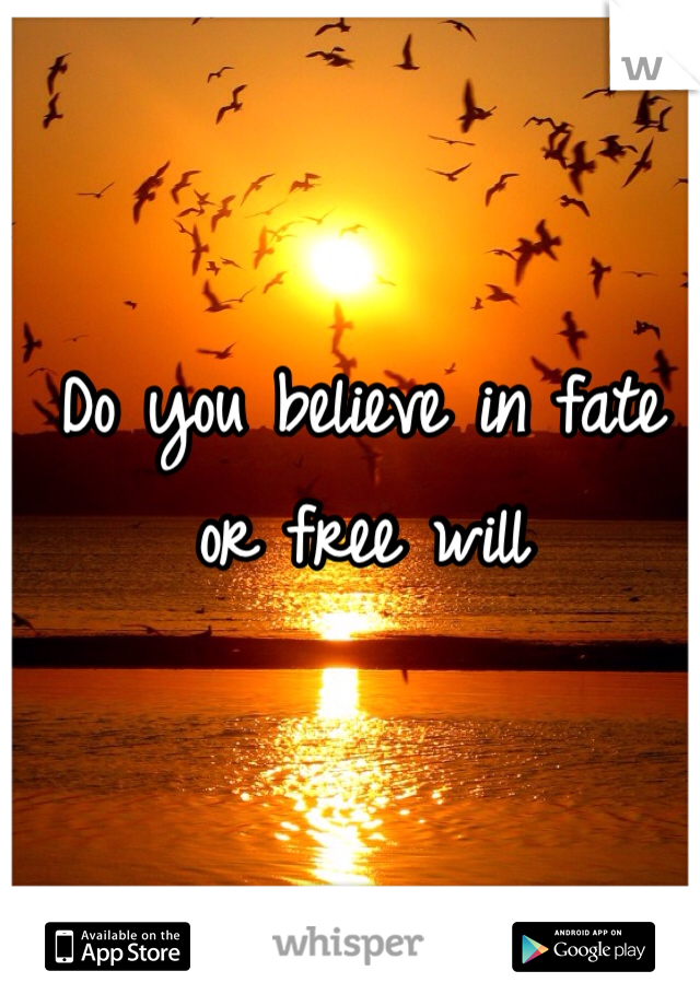 Do you believe in fate or free will