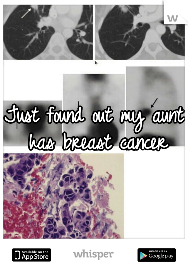 Just found out my aunt has breast cancer