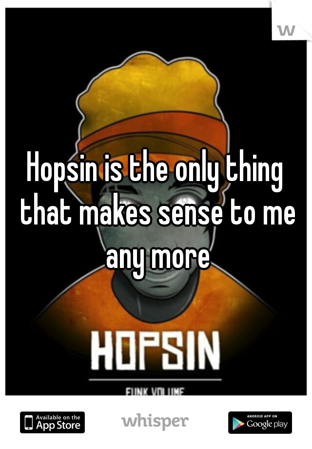 Hopsin is the only thing that makes sense to me any more