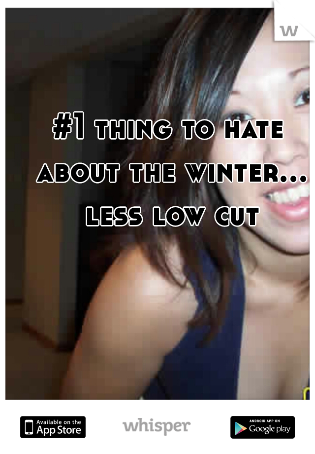 #1 thing to hate about the winter... less low cut