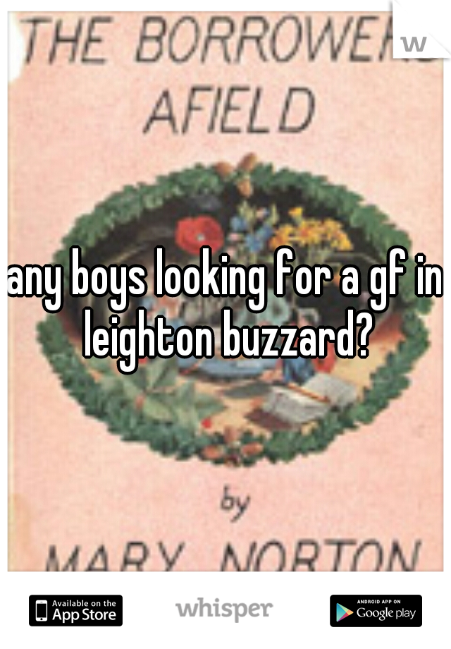 any boys looking for a gf in leighton buzzard?