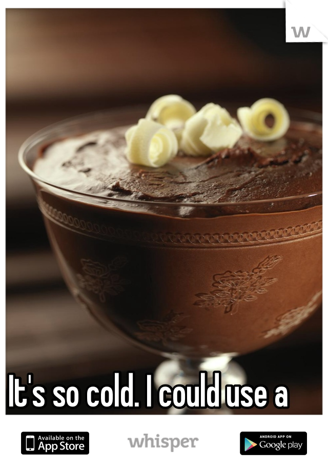 It's so cold. I could use a hot chocolate