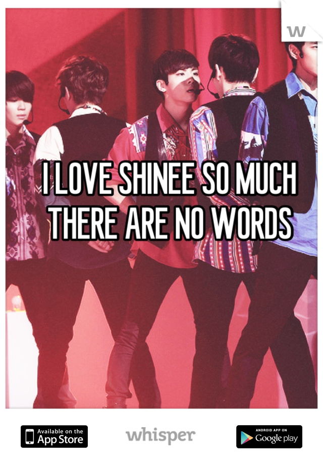 I LOVE SHINEE SO MUCH THERE ARE NO WORDS