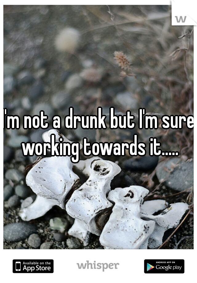 I'm not a drunk but I'm sure working towards it.....