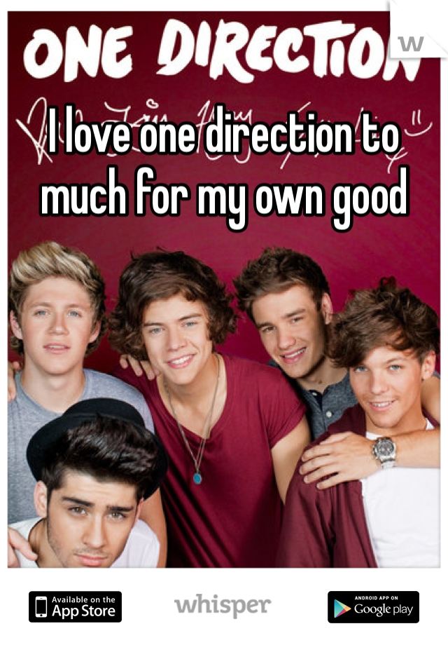 I love one direction to much for my own good