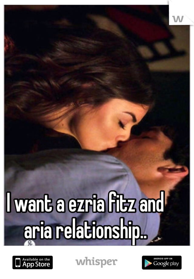 I want a ezria fitz and aria relationship..