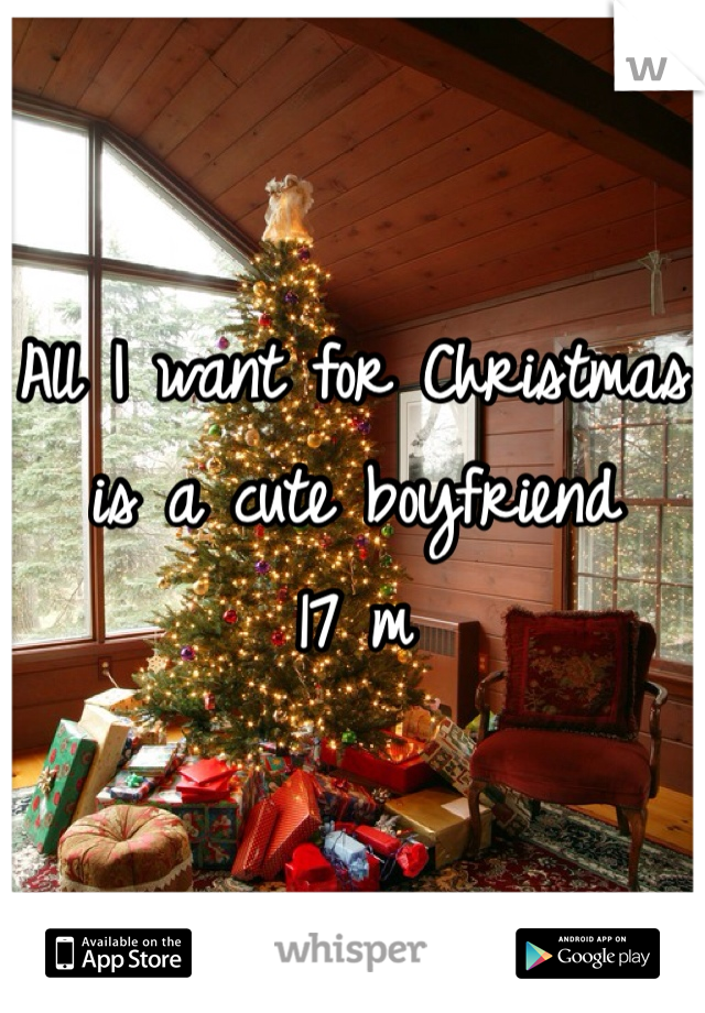 All I want for Christmas is a cute boyfriend 17 m
