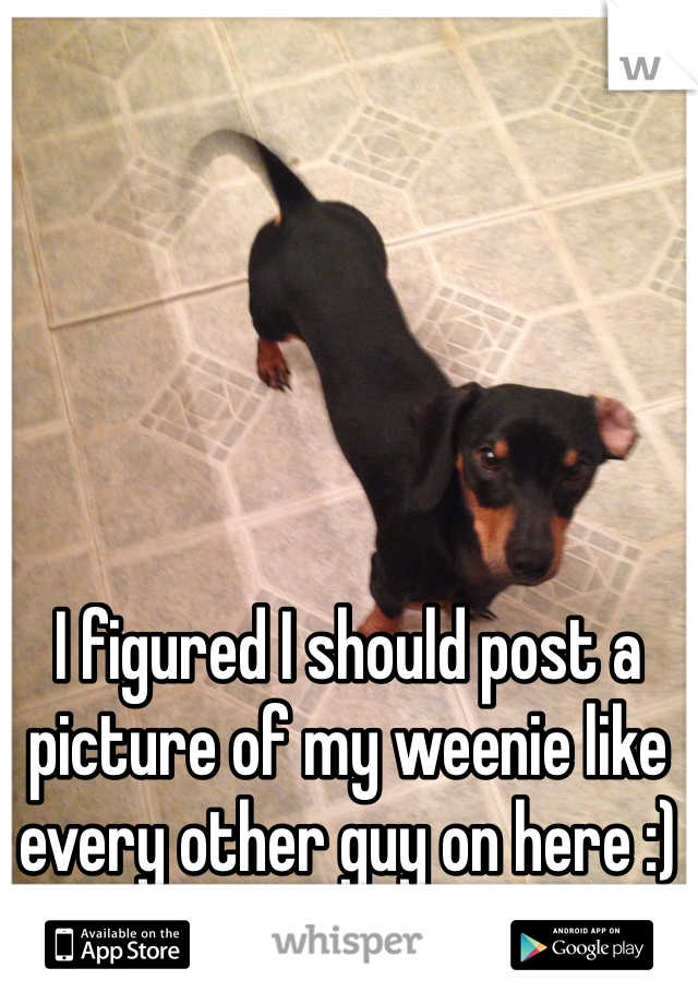 I figured I should post a picture of my weenie like every other guy on here :)