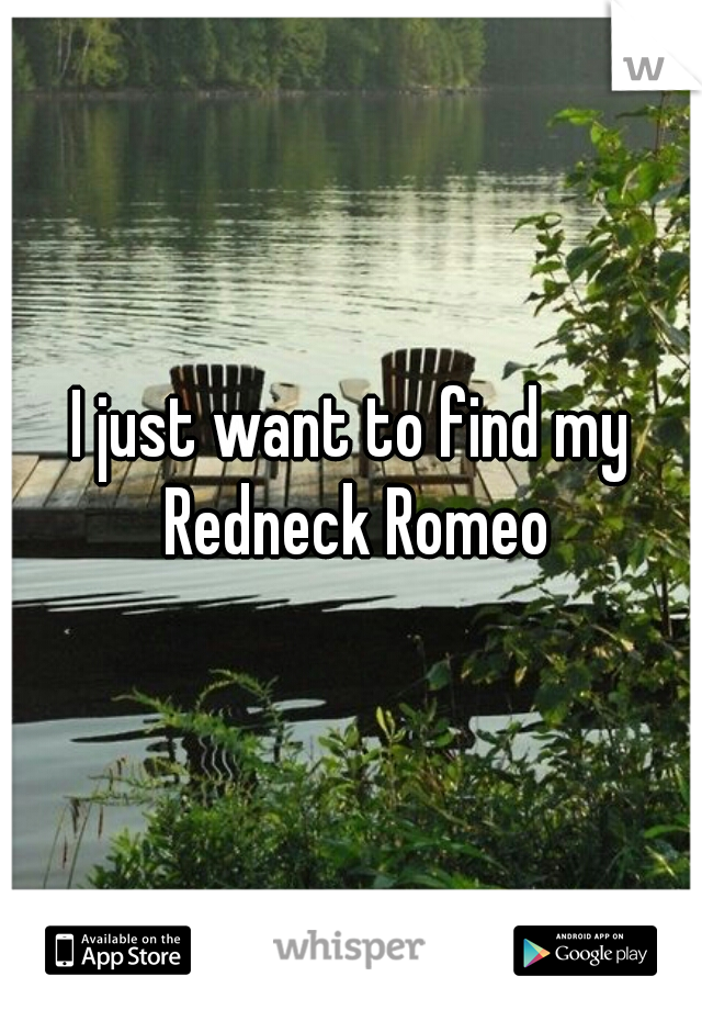 I just want to find my Redneck Romeo