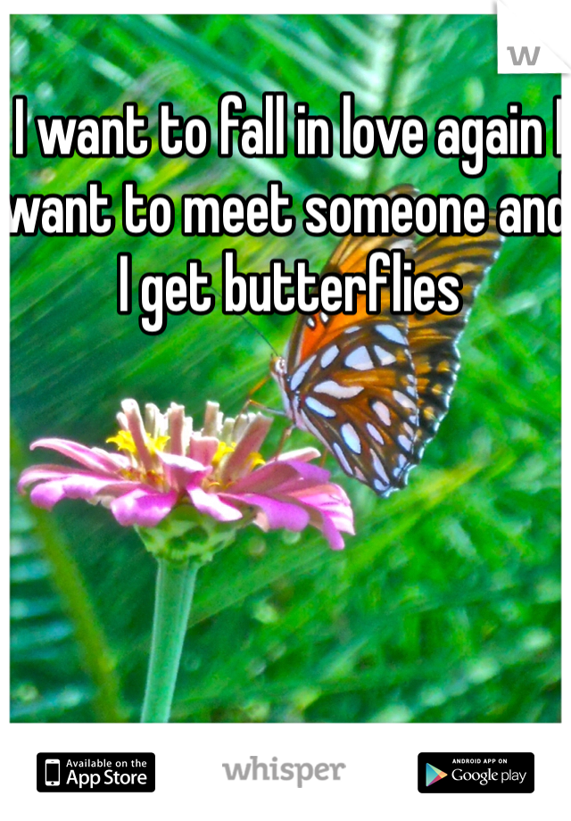 I want to fall in love again I want to meet someone and I get butterflies