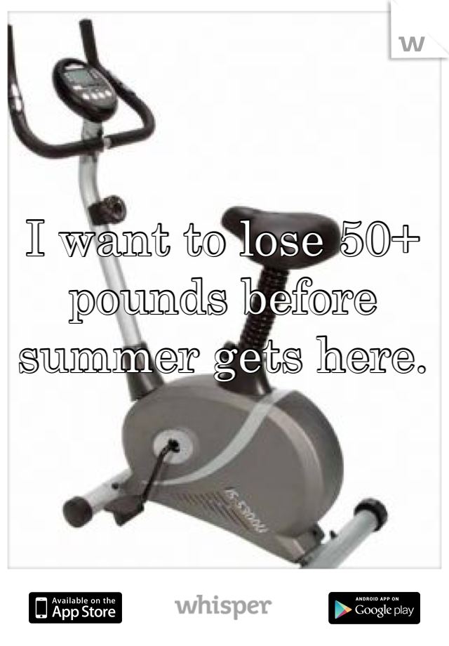 I want to lose 50+ pounds before summer gets here.