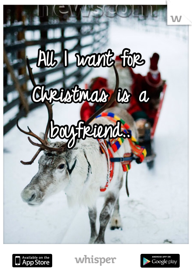 All I want for Christmas is a boyfriend..