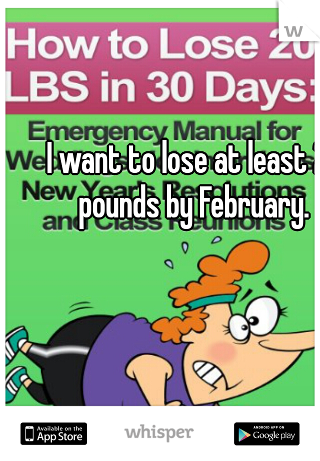 I want to lose at least 20 pounds by February.