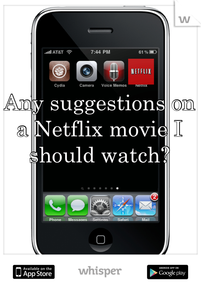 Any suggestions on a Netflix movie I should watch?