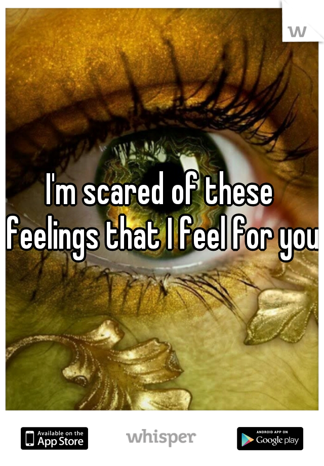 I'm scared of these feelings that I feel for you