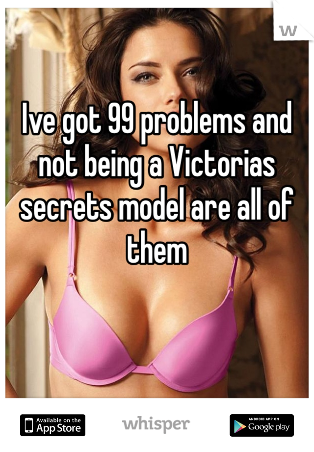 Ive got 99 problems and not being a Victorias secrets model are all of them