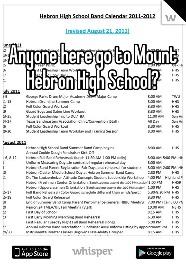 Anyone here go to Mount Hebron High School?