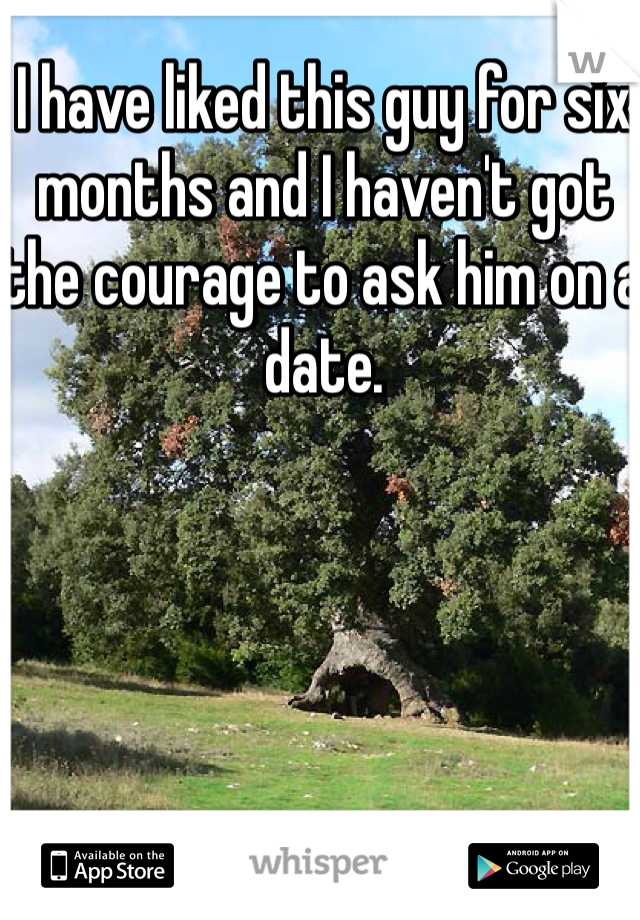 I have liked this guy for six months and I haven't got the courage to ask him on a date.