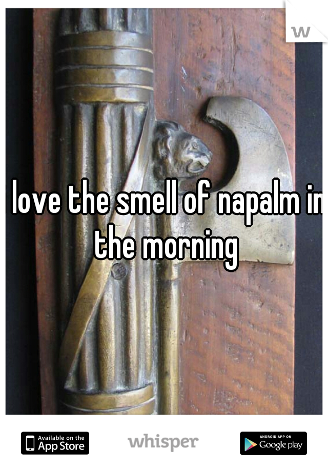 i love the smell of napalm in the morning