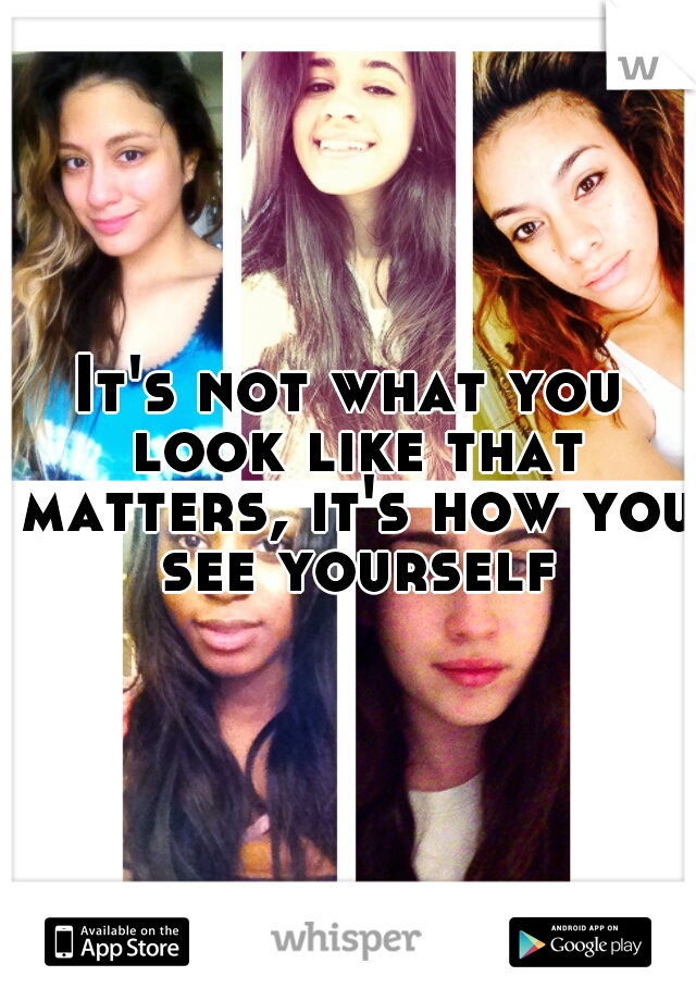 It's not what you look like that matters, it's how you see yourself