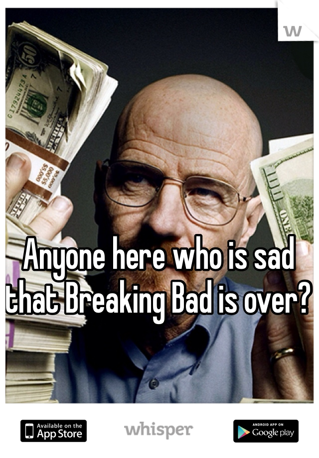 Anyone here who is sad that Breaking Bad is over?